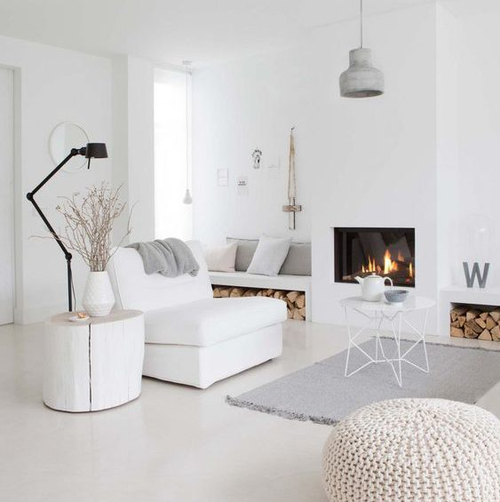 Arredo total white gattuso contract for Casa moderna total white